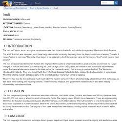 Inuit - Introduction, Location, Language, Folklore, Religion, Major holidays, Rites of passage