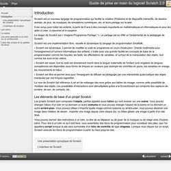 Introduction [Guide de prise en main du logiciel Scratch 2.0 ]
