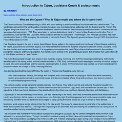 Introduction to Cajun, Louisiana Creole & zydeco music