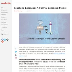 What is Machine learning formal model?