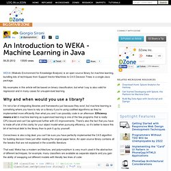 An Introduction to WEKA - Machine Learning in Java