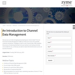 Info About Channel Data Management (CDM) by Zyme