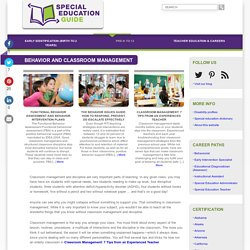 An Introduction to Classroom Management in Special Education
