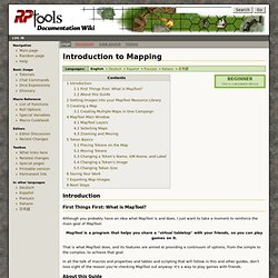 Introduction to Mapping - MapToolDoc
