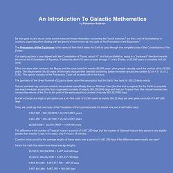 An Introduction To Galactic Mathematics