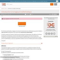 Introduction à la logique mathématique
