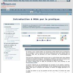 Introduction à MDA par la pratiqe - Club d'entraide des développeurs francophones