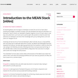 Introduction to the MEAN Stack [video]