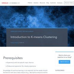 Introduction to K-means Clustering