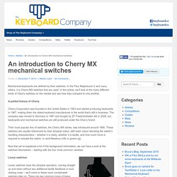 Introduction to Cherry MX