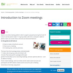 Introduction to Zoom meetings