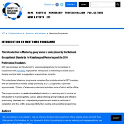 Introduction to Mentoring Programme
