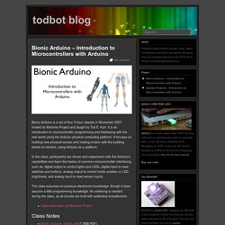 Bionic Arduino – Introduction to Microcontrollers with Arduino «