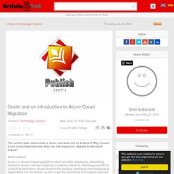 Azure Cloud Migration - Guide and Introduction by LiveRoute