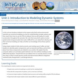 Unit 1: Introduction to Modeling Dynamic Systems