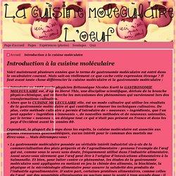 Introduction à la cuisine moléculaire