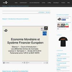 Séance 1 - Introduction à l'économie monétaire