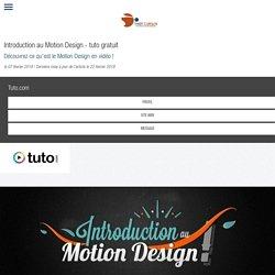Introduction au Motion Design - tuto gratuit