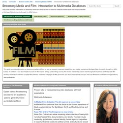Introduction to Multimedia Databases - Streaming Media and Film (Eunah / 90)
