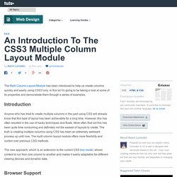 An Introduction To The CSS3 Multiple Column Layout Module