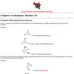 Benzènes III : multisubsitués.
