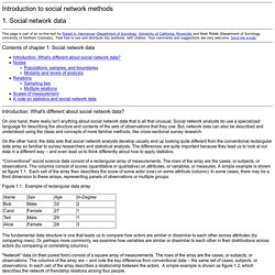 Introduction to Social Network Methods: Chapter 1: Social Network Data