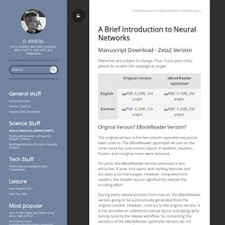 A Brief Introduction to Neural Networks · D. Kriesel