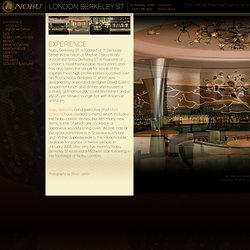 Introduction » Nobu Restaurants