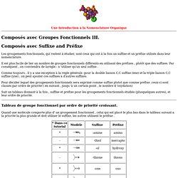 Nomenclature des Groupes Fonctionnels