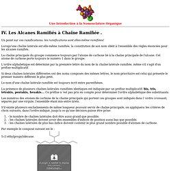 Alcanes Ramifiés II : à Chaîne Ramifiée