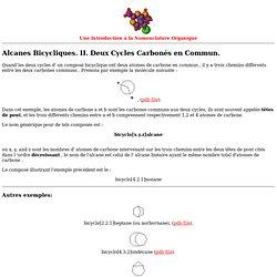 Alcanes Bicycliques. II