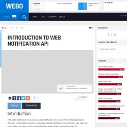 Introduction to Web Notification API - Webo