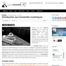 Introduction aux humanités numériques