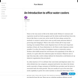An Introduction to office water coolers