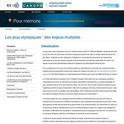 Elargissement : «Les jeux olympiques : des enjeux multiples»