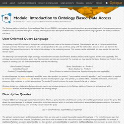Module: Introduction to Ontology Based Data Access
