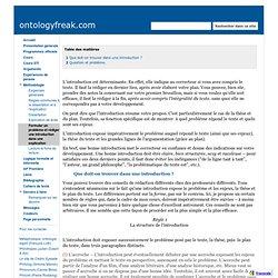 Formuler un problème et rédiger une introduction dans une explication - ontologyfreak.com