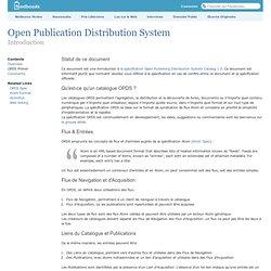 OPDS ? C'est quoi ? Open Publication Distribution System