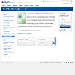 Introduction to Operational Modal Analysis - MATLAB & Simulink Based Books