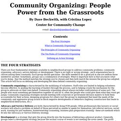 Introduction to Organizing