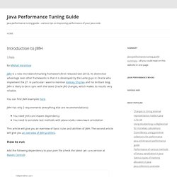 Java Performance Tuning Guide