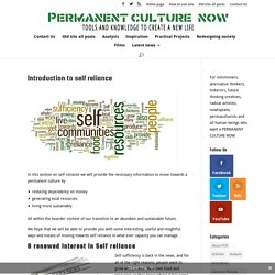 Introduction to self reliance - Permanent Culture Now