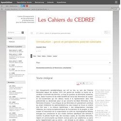 Introduction: genre et perspectives post/dé-coloniales