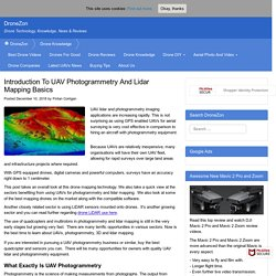 Introduction To UAV Photogrammetry And Lidar Mapping Basics