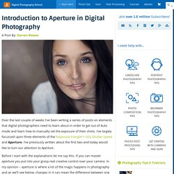 Introduction to Aperture in Photography - dPS