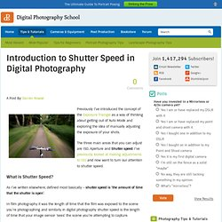 Introduction to Shutter Speed in Digital Photography