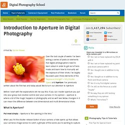 Introduction to Aperture in Digital Photography