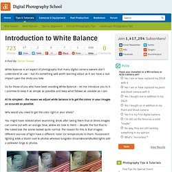 Introduction to White Balance