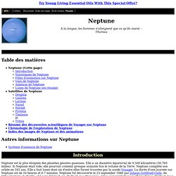 Introduction de la planète Neptune