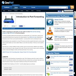 Introduction to Port Forwarding